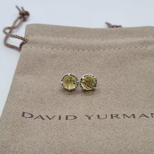 DAVID YURMAN LEMON CITRINE CHATELAINE EARRINGS